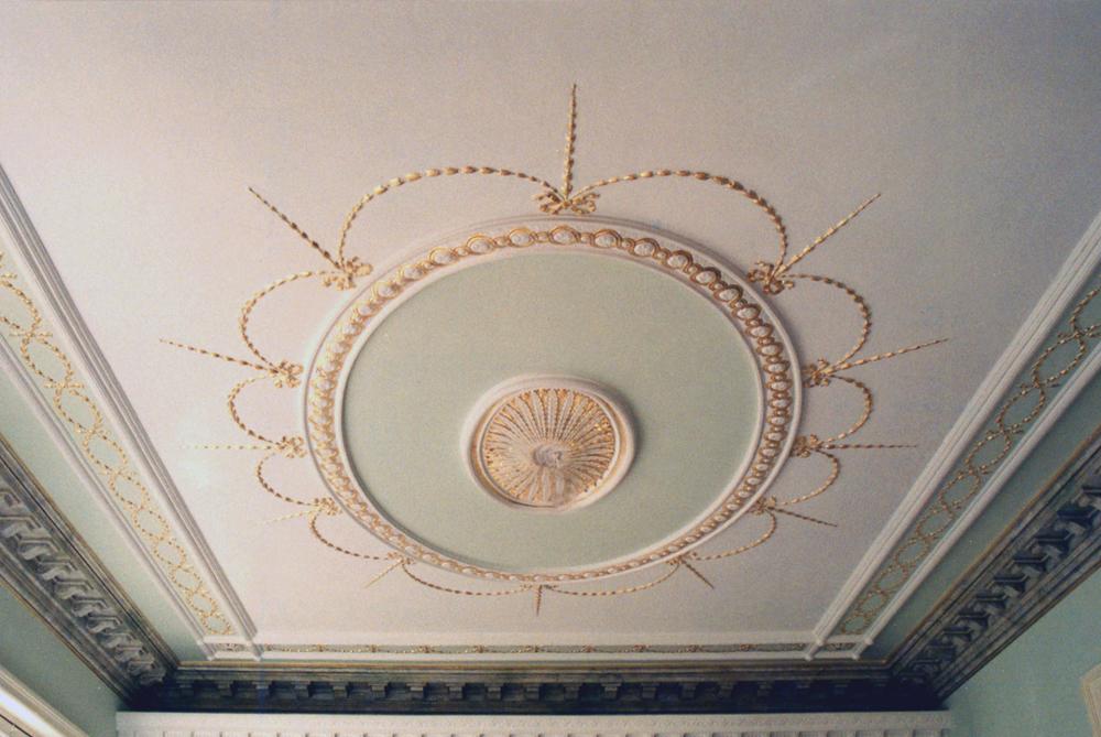 Molduras doradas flora pintura decorativa - Molduras techo pared ...