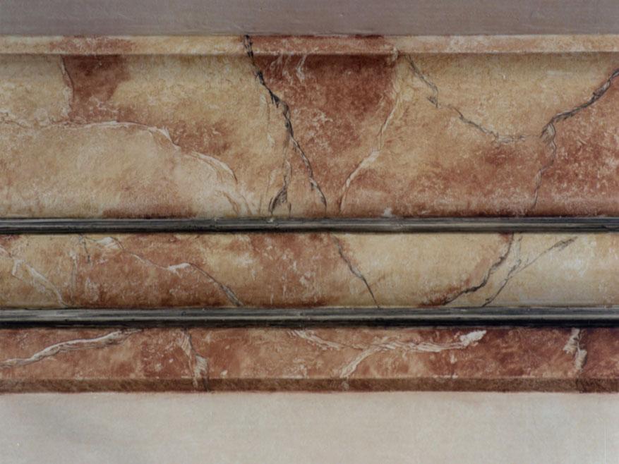 Moldura imitaci n marmol flora pintura decorativa - Molduras de marmol ...