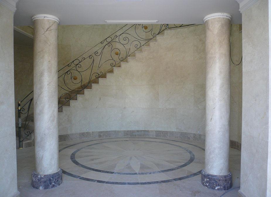 Imitaci n marmol flora pintura decorativa - Columna de marmol ...