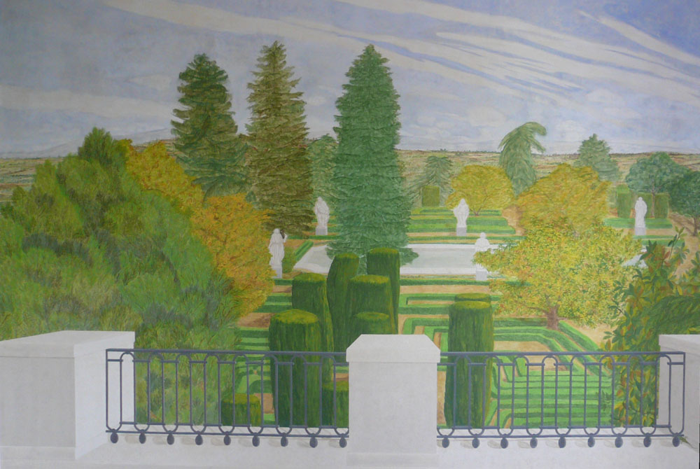 Jardines de sabatini flora pintura decorativa for Jardines sabatini